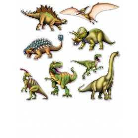 8 Découpes de dinosaures en cartons