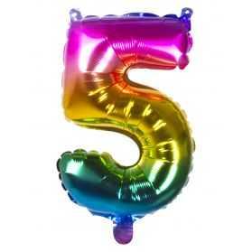 Ballon helium en forme de chiffre 5