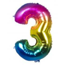 Ballon Géant en forme de chiffre multicolore