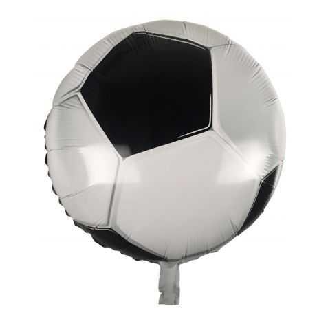 Ballon gonflable en forme de Ballon de Football noir et blanc