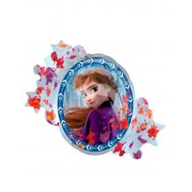 Ballon aluminium recto verso Elsa et Anna La Reine des Neiges 2 76 x 66 cm