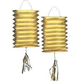 Lampions papier dorés