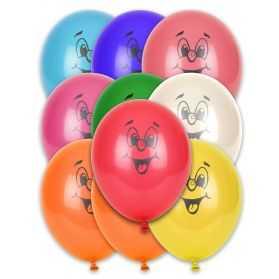 10 Ballons Jaunes en forme de Smiley