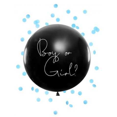 Ballon géant avec confettis Bleus à l'intérieur