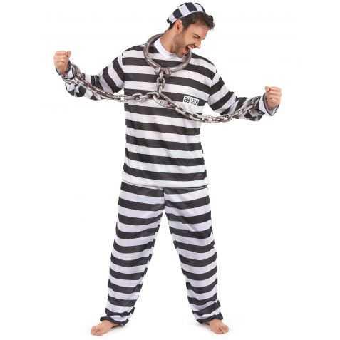 Déguisement Prisonnier à rayures