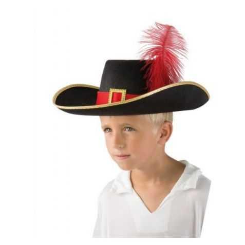 Chapeau enfant de Mousquetaire avec plume