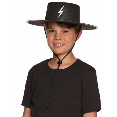Chapeau Justicier noir enfant