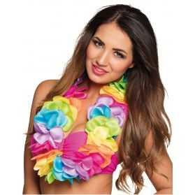 Collier Hawaïen aux couleurs de l'arc-en-ciel
