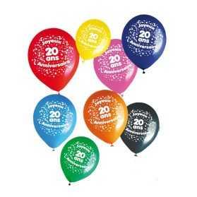 Ballons d'anniversaire avec Chiffre 20