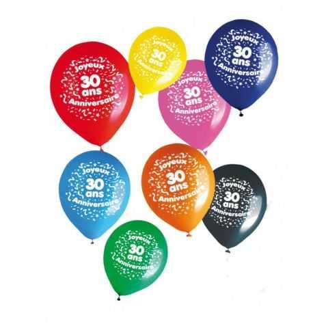 Ballons d'anniversaire avec Chiffre 30