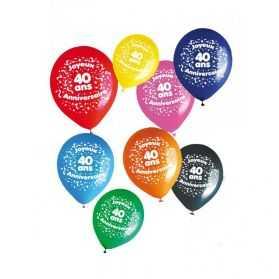 Ballons d'anniversaire avec Chiffre 40