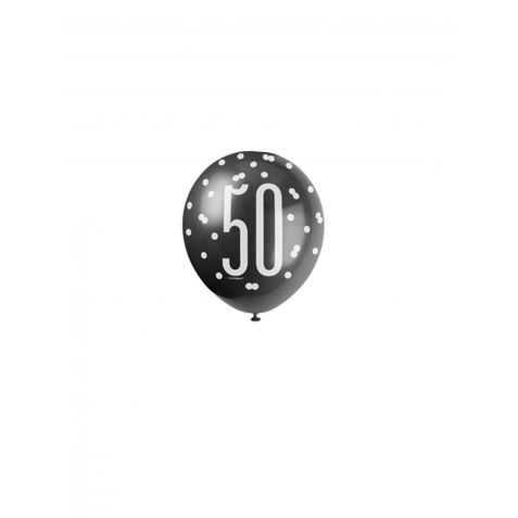 Ballons d'anniversaire avec Chiffre 50