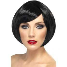 Perruque cabaret cheveux noirs