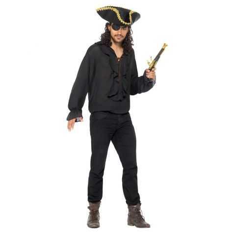 Chemise noire pirate