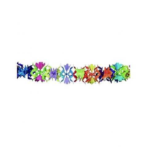 Grande Guirlande de fête avec motif Fleurs