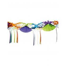 Guirlande de fête multicolore pour buffet