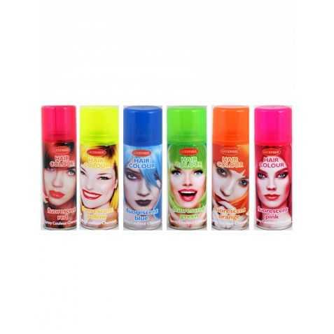 Hairspray pour se colorer les cheveux en fluo