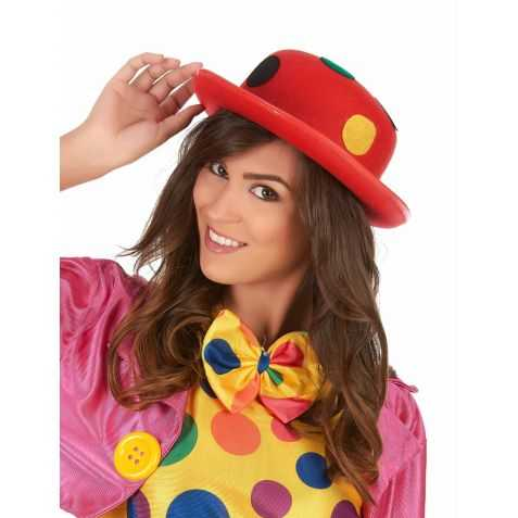 Chapeau de clown à pois adulte