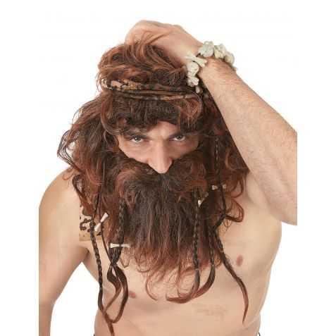 Perruque et Barbe Homme de Cro Magnon