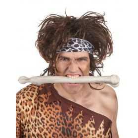 Perruque Homme des Cavernes avec cheveux hirsutes
