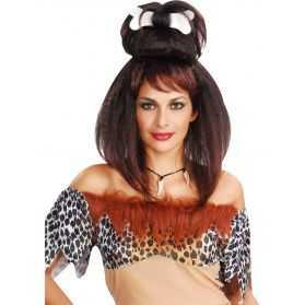 Perruque Femme des Cavernes avec cheveux hirsutes