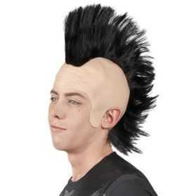 1 Perruque Crâne avec crête de Punk
