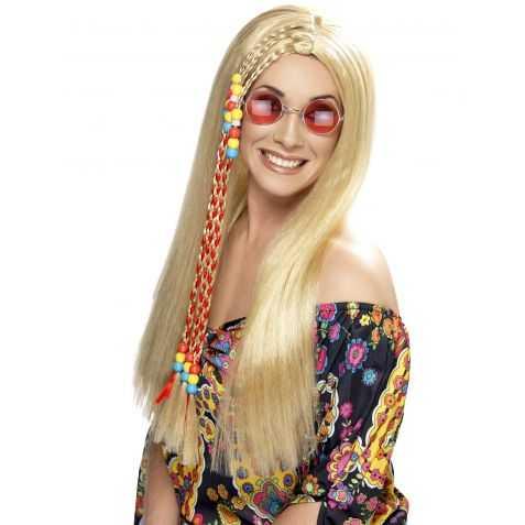 Perruque déguisement hippie femme