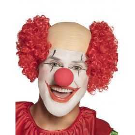 Faux Crâne avec Cheveux de Bozo le Clown