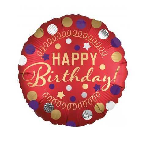 Ballon métallisé Happy Birthday
