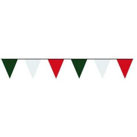Guirlande Italie fanions vert blanc rouge