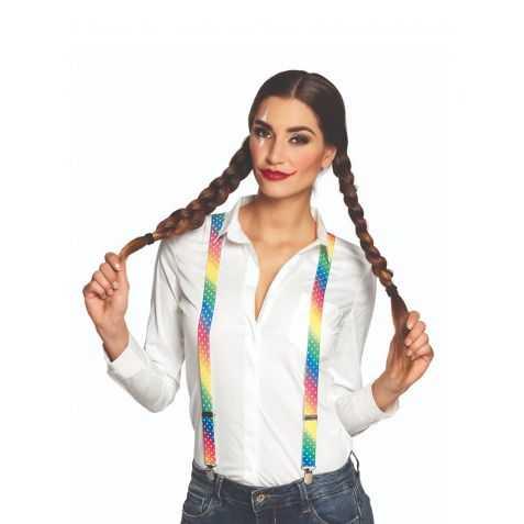 Bretelles élastique multicolores de Clown