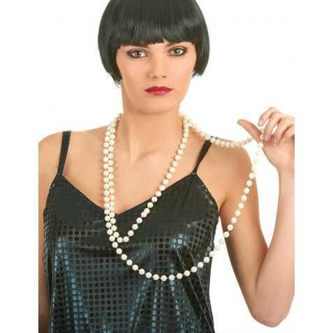 Collier de perles blanches des Années Folles