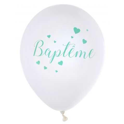 Ballons de baudruche Baptême