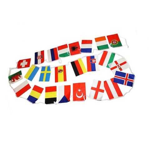 Grande Guirlande avec drapeaux des pays de l'Union Européenne
