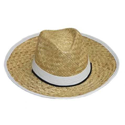 Chapeau de paille avec bandeau