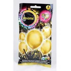 Ballons lumineux dorés