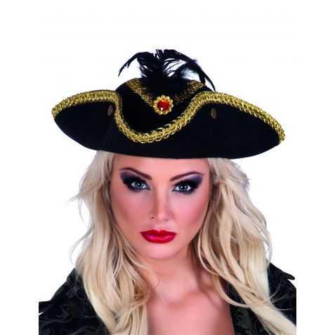 Tricorne déguisement de Pirate femme