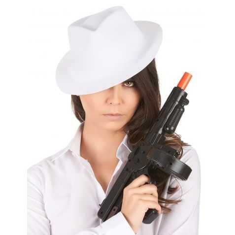 Chapeau de dangereux Gangster Blanc