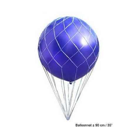 Filet pour créer une mongolfière avec un ballon