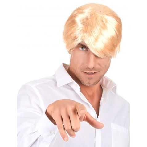 Perruque de Play Boy aux cheveux blonds