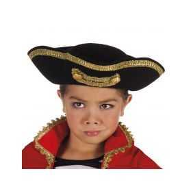 Tricorne Noir de Capitaine pour Enfant