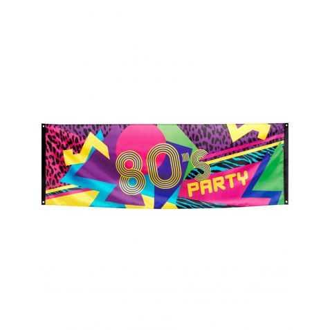 Bannière Soirée Années 80