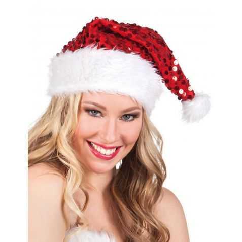 Bonnet de Père Noel pailletté
