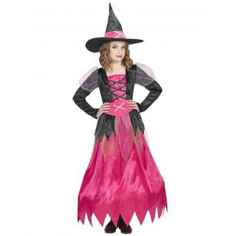 Robe rose de Sorcière enfant