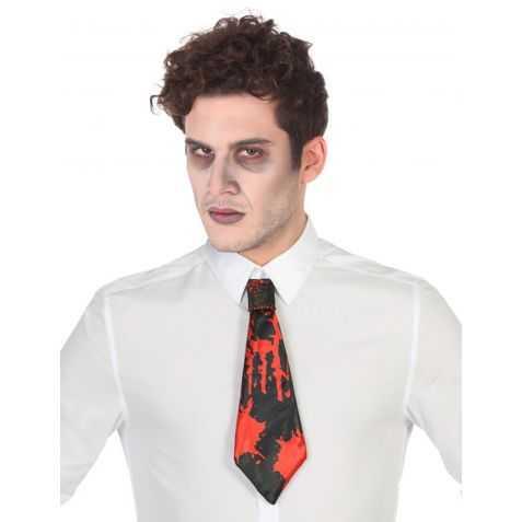 Cravate avec fausses tâches de sang