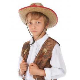 Chapeau Cowboy enfant avec étoile de shériff