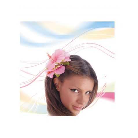 Fleur d'hibiscus montée sur clip