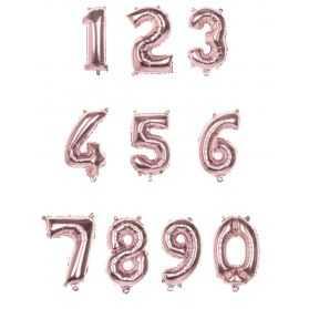 ballon rose en forme de chiffre