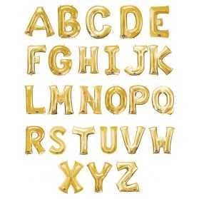 Ballon géant en forme de lettre dorée