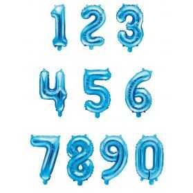 1 petit Ballon Chiffre Bleu hauteur 33cm